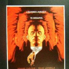 Cine: JUEGO MORTAL.VIAJE INTERACTIVO AL INFIERNO-JOHN FLYNN-EDWARD FURLONG-FRANK LANGELLA-POSTAL-1994. . Lote 120221683