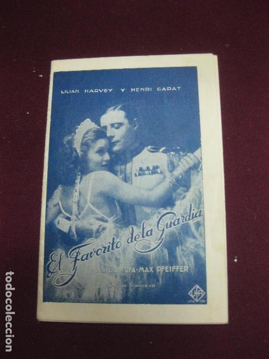 PROGRAMA DE CINE DESPLEGABLE. . EL FAVORITO DE LA GUARDIA. LILIAN HARVEY Y HENRY GARAT. 1932. (Cine - Folletos de Mano - Aventura)