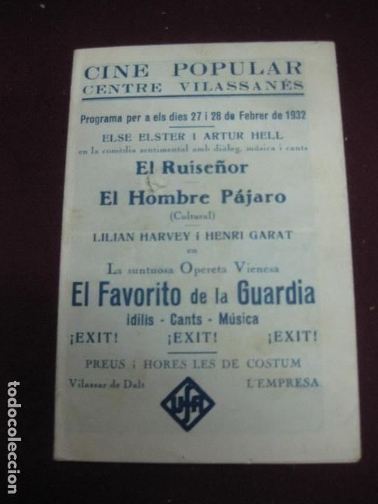 Cine: PROGRAMA DE CINE DESPLEGABLE. . EL FAVORITO DE LA GUARDIA. LILIAN HARVEY Y HENRY GARAT. 1932. - Foto 2 - 120402663