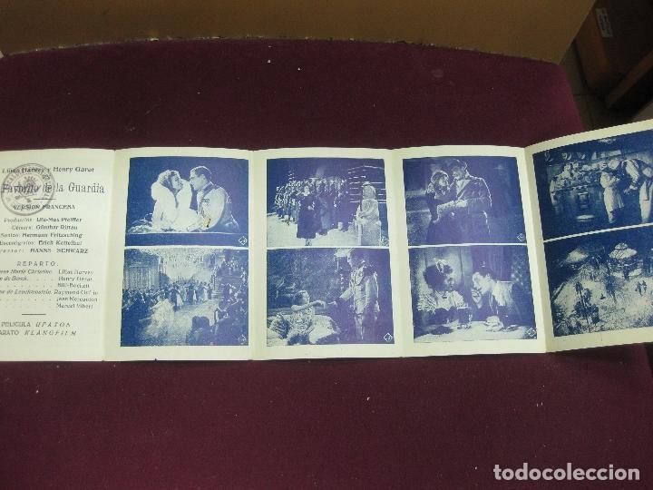 Cine: PROGRAMA DE CINE DESPLEGABLE. . EL FAVORITO DE LA GUARDIA. LILIAN HARVEY Y HENRY GARAT. 1932. - Foto 3 - 120402663