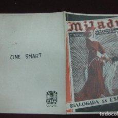 Cine: PROGRAMA DE CINE DOBLE. MILADY. 2º CAPITULO DE LOS TRES MOSQUETEROS. EDITH MERA. . Lote 120421115