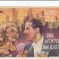 Cine: UNA AVENTURA DE JIM BAXTER CON JULES BERRY JOSELINE GAEL SIN PUBLICIDAD. Lote 120449611