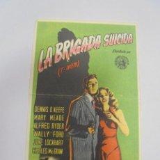 Cine: PROGRAMA DE CINE. C/P. LA BRIGADA SUICIDA (T-MEN). Lote 120485719