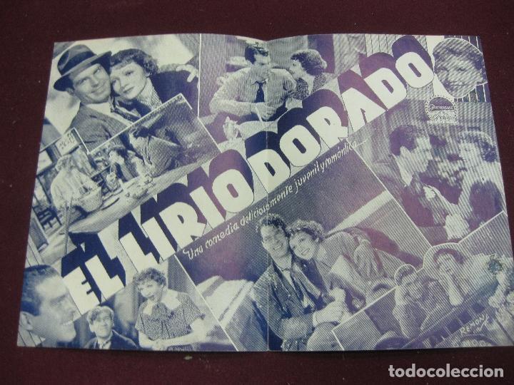 Cine: PROGRAMA DE CINE DOBLE EL LIRIO DORADO. CLAUDETTE COLBERT. CINE ARIEL URUGUAY. - Foto 2 - 120492515