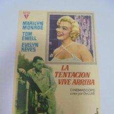 Cine: PROGRAMA DE CINE. S/P. LA TENTACION VIVE ARRIBA. Lote 120503055