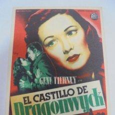 Cine: PROGRAMA DE CINE. S/P. EL CASTILLO DE DRAGONWYCK. Lote 120503095
