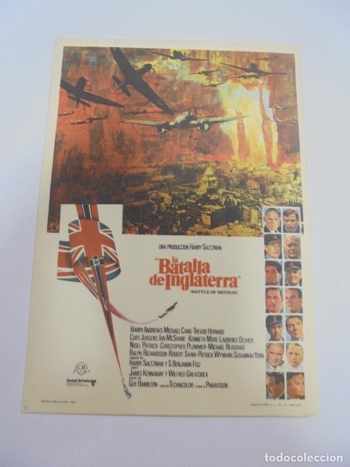 PROGRAMA DE CINE. S/P. LA BATALLA DE INGLATERRA (Cine - Folletos de Mano - Drama)