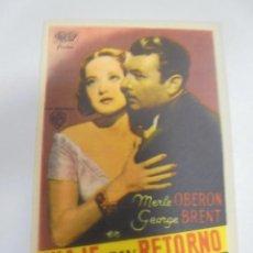 Foglietti di film di film antichi di cinema: PROGRAMA DE CINE. C/P. VIAJE SIN RETORNO. Lote 120602727