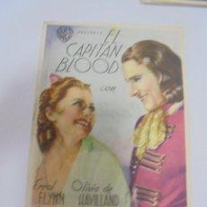 Foglietti di film di film antichi di cinema: PROGRAMA DE CINE. C/P. EL CAPITAN BLOOD. Lote 120602859