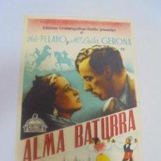 Cine: PROGRAMA DE CINE. S/P. ALMA BATURA. Lote 120608635