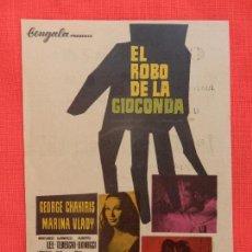 Flyers Publicitaires de films Anciens: EL ROBO DE LA GIOCONDA, SENCILLO EXCTE. ESTADO, GEORGE CHAKIRIS, C/PUBLI C. AVENIDA. Lote 120705183