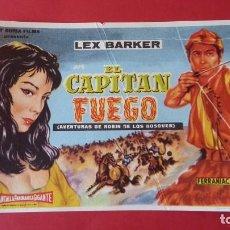 Cine: - EL CAPITAN FUEGO - FOLLETO DE CINE, SIN PUBLICIDAD.. Lote 120805815