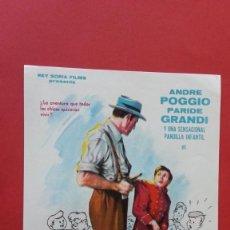 Cine: - TOSCANITO Y LOS DETECTIVES - FOLLETO DE CINE, SIN PUBLICIDAD. . Lote 120806287