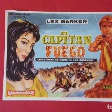 Cine: - EL CAPITAN FUEGO - FOLLETO DE CINE, SIN PUBLICIDAD. . Lote 120806751