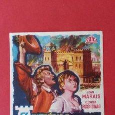 Cine: - EL MARISCAL - FOLLETO DE CINE, SIN PUBLICIDAD. . Lote 120810087