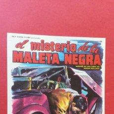Cine: - EL MISTERIO DE LA MALETA NEGRA - FOLLETO DE CINE, SIN PUBLICIDAD. . Lote 120812675