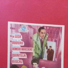 Cine: - JUZGADO PERMANENTE - FOLLETO DE CINE, SIN PUBLICIDAD.. Lote 120813575