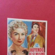 Cine: - HUYENDO DE SI MISMO - FOLLETO DE CINE, SIN PUBLICIDAD.. Lote 120813659