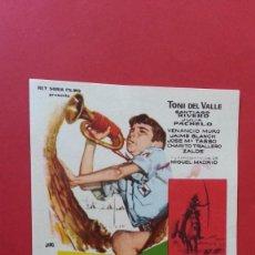 Cine: - DE LA PIEL DEL DIABLO - FOLLETO DE CINE, SIN PUBLICIDAD.. Lote 120813927