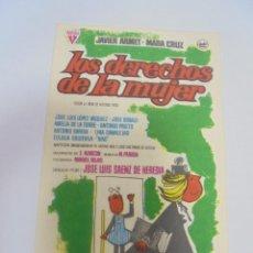 Cine: PROGRAMA DE CINE. C/P. LOS DERECHOS DE LA MUJER. Lote 120869739