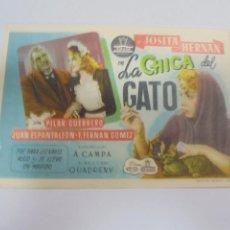 Cine: PROGRAMA DE CINE. S/P. LA CHICA DEL GATO. Lote 120870727