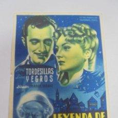 Cine: PROGRAMA DE CINE. S/P. LEYENDA DE NAVIDAD. Lote 120872363