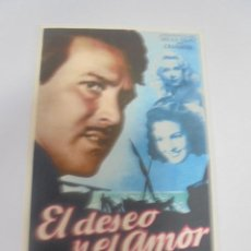 Cine: PROGRAMA DE CINE. S/P. EL DESEO Y EL AMOR. Lote 120875975