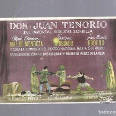 Cine: PROGRAMA DE CINE. S/P. DON JUAN TENORIO. Lote 120891067