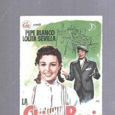 Cine: PROGRAMA DE CINE. S/P. LA CHICA DEL BARRIO. Lote 120891179