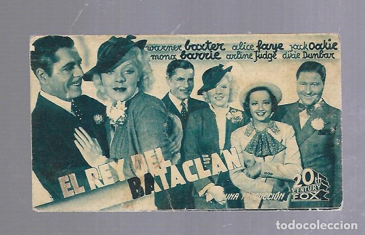 PROGRAMA DE CINE. S/P. EL REY DEL BATACLAN (Cine - Folletos de Mano - Comedia)
