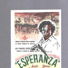 Cine: PROGRAMA DE CINE. S/P. ESPERANZA. Lote 120891799
