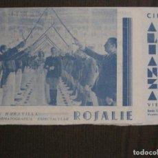 Cine: ROSALIE - CORRESPONSAL DE GUERRA- PROGRAMA DE CINE-ALIANZA VIEJA -VER FOTOS-(C-4153). Lote 120949915