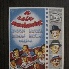 Cine: A REIR MUCHACHOS - PROGRAMA DE CINE- ARAJOL -VER FOTOS-(C-4162). Lote 120952723