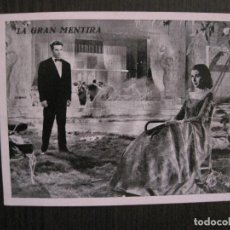 Cine: LA GRAN MENTIRA - PROGRAMA DE CINE- CINE NUEVO -VER FOTOS-(C-4163). Lote 120952931