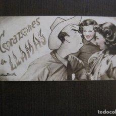Cine: CORAZONES EN LLAMAS- PROGRAMA DE CINE -VER FOTOS-(C-4165). Lote 120953267