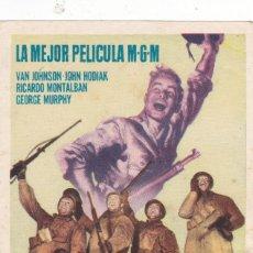 Cine: FUEGO EN LA NIEVE CON VAN JOHNSON, JOHN HODIAK, RICARDO MONTALBAN, GEORGE MURPHY SIN PUBLICIDAD. Lote 120999383