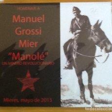 Cine: HOMENAJE MANUEL GROSSI. UN MINERO REVOLUCIONARIO DEL POUM. DVD. FUNDACION ANDREU NIN.MIERES 2013. Lote 121064559