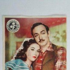 Cine: FOLLETO DE CINE, TEATRO APOLO, AÑOS 50, CINE MUNDIAL, ALMADEN, ORIGINAL, . Lote 121209511