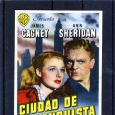 Cine: PROGRAMA DE LA PELICULA=CIUDAD DE CONQUISTA=CON PUBLICIDAD CINE LA RAMBLA AÑO 1946-VER FOTO REVERSO . Lote 121245815