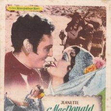 Cine: LA ESPÍA DE CASTILLA CON JEANETTE MACDONALD, ALLAN JONES AÑO 1951 EN CINEMAS PRINCIPAL Y LA RAMBLA. Lote 121311347