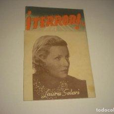 Cine: TERROR! , LAURA SOLARI, SIN PUBLICIDAD. Lote 121368223