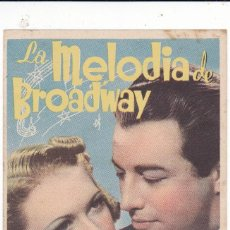 Cine: LA MELODÍA DE BROADWAY CON ROBERT TAYLOR, ELEANOR POWELL SIN PUBLICIDAD. Lote 121430451