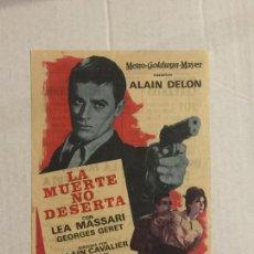 Cine: PROGRAMA DE CINE LA MUERTE NO DESERTA (ALAIN DELON). TEATRO CERVANTES / CINEMA PROYECCIONES (C.REAL). Lote 121502315