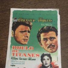 Cine: DUELO DE TITANES. ANTIGUO FOLLETO DE CINE AÑO 1959 OLOT. Lote 121505187