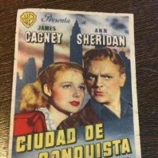 Cine: CIUDAD DE CONQUISTA. CINE CATALUÑA. ANTIGUO FOLLETO DE CINE.. Lote 121513851