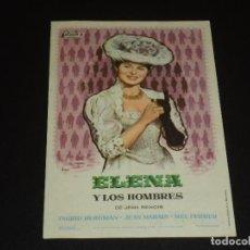 Cine: PROGRAMA DE MANO ORIGINAL - ELENA Y LOS HOMBRES - CINE GARNELO. Lote 121588771