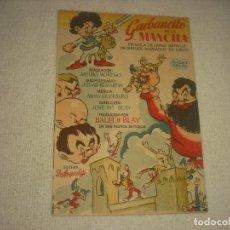Cine: GARBANCITO DE LA MANCHA, PROGRAMA SENCILLO SIN PUBLICIDAD. Lote 121645395