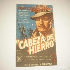 Cine: CABEZA DE HIERRO, PROGRAMA DOBLE SIN PUBLICIDAD. Lote 121646059