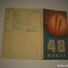 Cine: 48 HORAS, PROGRAMA DOBLE SIN PUBLICIDAD .. Lote 121646399