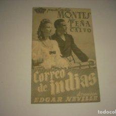Cine: CORREO DE INDIAS, PROGRAMA DOBLE SIN PUBLICIDAD .. Lote 121647075